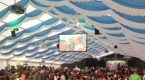 Public Viewing WM 2014 Finale in Schwarzenberg